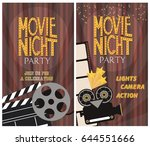 set of movie party invitation... | Shutterstock .eps vector #644551666