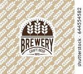 brewery logo emblem design.... | Shutterstock .eps vector #644554582