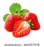 sweet strawberry on white... | Shutterstock . vector #644557978