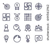 challenge icons set. set of 16... | Shutterstock .eps vector #644561962
