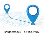 gps navigator pin checking... | Shutterstock .eps vector #644564902