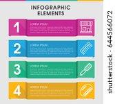 modern hairbrush infographic... | Shutterstock .eps vector #644566072
