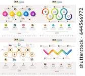 timeline infographics design... | Shutterstock .eps vector #644566972