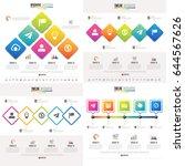 timeline infographics design... | Shutterstock .eps vector #644567626