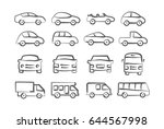 car icons in doodle style | Shutterstock .eps vector #644567998