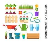 gardening and horticulture ... | Shutterstock .eps vector #644569885