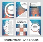 abstract vector layout... | Shutterstock .eps vector #644570005