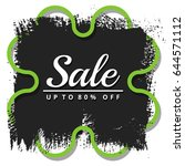 sale up to 80  off sign over... | Shutterstock .eps vector #644571112