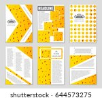 abstract vector layout... | Shutterstock .eps vector #644573275
