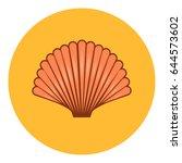 shell icon vector illustration | Shutterstock .eps vector #644573602