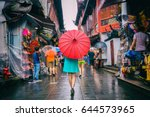 people woman walking in... | Shutterstock . vector #644573965