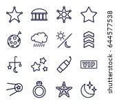 star icons set. set of 16 star... | Shutterstock .eps vector #644577538