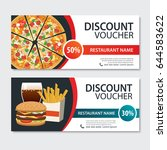 discount voucher fast food... | Shutterstock .eps vector #644583622