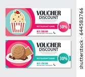 discount voucher set of ice... | Shutterstock .eps vector #644583766