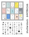 set of different elements and... | Shutterstock .eps vector #644586166