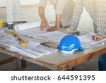 group of engineer checking the... | Shutterstock . vector #644591395