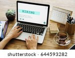 job career hiring recruitment... | Shutterstock . vector #644593282