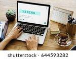 job career hiring recruitment...   Shutterstock . vector #644593282