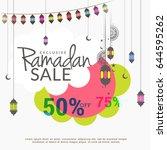 illustration of ramadan sale... | Shutterstock .eps vector #644595262