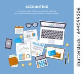 accounting concept. financial... | Shutterstock . vector #644599306
