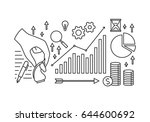 graphic business and finance ... | Shutterstock .eps vector #644600692
