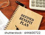 book with title defined benefit ... | Shutterstock . vector #644600722