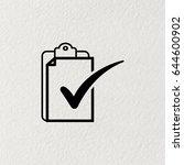 checklist icon  vector... | Shutterstock .eps vector #644600902