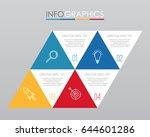 modern info graphic template...   Shutterstock .eps vector #644601286