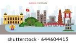 hanoi  lake  vietnam landmarks... | Shutterstock .eps vector #644604415