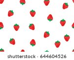 strawberry graphic for fabric... | Shutterstock .eps vector #644604526