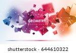 abstract poligonal background.... | Shutterstock .eps vector #644610322