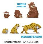 bears and leopards. vector... | Shutterstock .eps vector #644611285