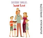 different kind of families. big ... | Shutterstock .eps vector #644612296