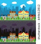 vector city with one and two...   Shutterstock .eps vector #644612812