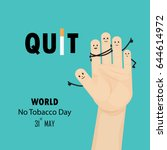 hands and quit tobacco sign.may ...   Shutterstock .eps vector #644614972