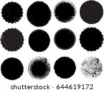 grunge post stamps collection ... | Shutterstock .eps vector #644619172