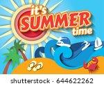 summer time. vector... | Shutterstock .eps vector #644622262