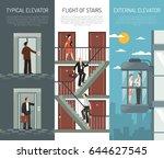 Three Escalator Stairs Vertical ...