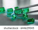 emeralds and gemstones  | Shutterstock . vector #644629045