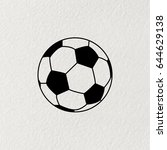 soccer  football  ball icon.... | Shutterstock .eps vector #644629138