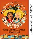 festa junina brazil june... | Shutterstock .eps vector #644631262