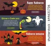 happy halloween banner...   Shutterstock .eps vector #644631736