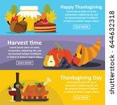 happy thanksgiving banner...   Shutterstock .eps vector #644632318
