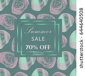 trendy fashion sale banner.... | Shutterstock .eps vector #644640508