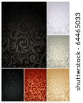 seamless wallpaper pattern  set ... | Shutterstock .eps vector #64465033