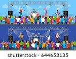 open air concerts set. | Shutterstock .eps vector #644653135