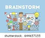 brainstorming illustration... | Shutterstock .eps vector #644657155