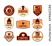 coffee shop logo design... | Shutterstock .eps vector #644662186