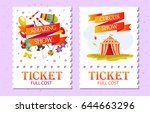 event tickets for magic show in ... | Shutterstock .eps vector #644663296