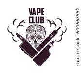 vape  e cigarette emblems ... | Shutterstock . vector #644663992